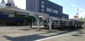海上コンテナ用シャーシ   輸出入貨物の輸送の運送会社 有限会社ミナミ